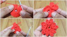 Neste vídeo você vai ser capaz de aprender como crochet flor do coração bonito. Eles são t...