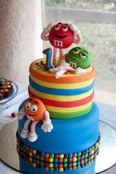 Fun m&m cakes