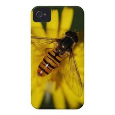 Cool Honey Bee on Flower in Nature Photography iPhone 4 Covers