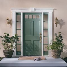 Your front door is the first thing that people see when they look at your home. The good news is that there are plenty of front door color ideas to choose from… Exterior Door Colors, Front Door Paint Colors, Painted Front Doors, Painted Exterior Doors, Best Front Door Colors, House Front Door, Front Door Decor, Front Door Makeover, Colonial Front Door