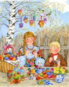 Solve Coloring Easter eggs jigsaw puzzle online with 130 pieces Easter Illustration, Easter Wallpaper, Creation Deco, Ukrainian Art, Easter Art, Coloring Easter Eggs, Easter Activities, Vintage Easter, Vintage Cards