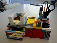 16 Unique Furniture Ideas Made of Lego - AllDeco Lego Furniture, Custom Made Furniture, Unique Furniture, Furniture Ideas, Furniture Removal, Office Furniture, Lego Desk, Lego Room, Van Lego