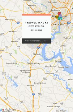 Travel Hack: Use Custom Google Maps on Mobile | The Overseas Escape | Bloglovin'
