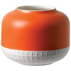 Buy HemingwayDesign for Royal Doulton Rose Vase, H14cm, Orange/White Online at johnlewis.com
