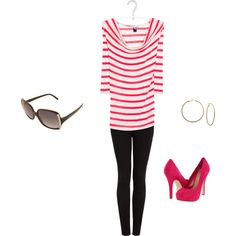stripes and skinny jeans