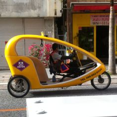 Sweet taxi ride (Okinawa Japan, Kokusai street)