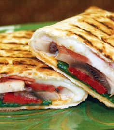 Provolone and Veggie Panini at Sandella's Flatbread Cafe - Nutrition, description and more Healthy Dining menu choices