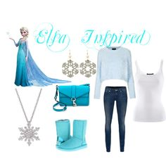 Frozen Inspired: Blue Sweater, Denim Jeans, Blue Shoes, Snowflake Accessories (Casual) (Cold Weather) (Winter)