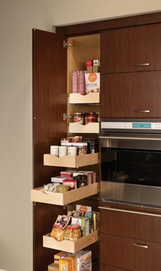 Tall Cabinet with Slide-Out Shelves