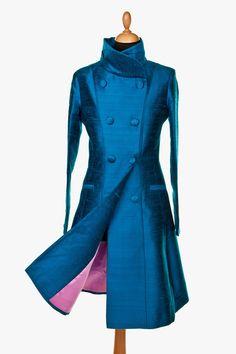 Silk Delphine Coat in Lobelia by ShibumiStyle on Etsy https://www.etsy.com/listing/159057551/silk-delphine-coat-in-lobelia