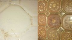 Paint Stripper On Tiles Before and After - Our House And Blog