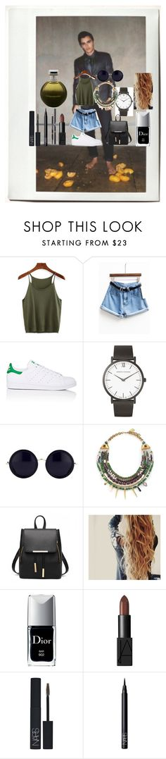 """""""N°70"""" by marlinda212 ❤ liked on Polyvore featuring Polaroid, adidas, Larsson & Jennings, The Row, Lizzie Fortunato, Christian Dior, NARS Cosmetics, Chanel and Catherine Malandrino"""