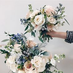 Super wedding flowers bridesmaids florists Ideas wedding flowers is part of Bridesmaid flowers - Prom Flowers, Blue Wedding Flowers, Wedding Flower Arrangements, Bridesmaid Flowers, Bride Bouquets, Bridal Flowers, Flower Bouquet Wedding, Wedding Centerpieces, Floral Wedding