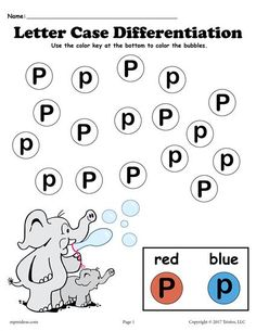 Free Letter F DoADot Printables For Letter Case Differentiation