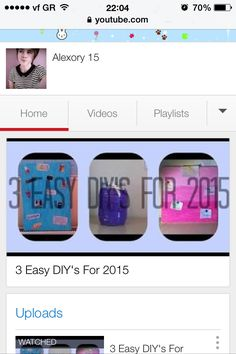 My new video is up :D please go and check it out . It's my first diy :)