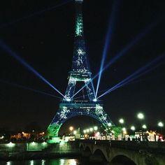 Tour Eiffel COP21 #eiffeltower #paris #green #cop21paris2015 by sirhctweedie Eiffel_Tower #France