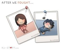 though its bful creation by HJ-Story :: 'After we fought' i love to loose from her, especially when its smthing she wants to have😅😊 Hj Story, Love Cartoon Couple, Chibi Couple, Cute Love Stories, Love Story, Love Is Sweet, What Is Love, Love Is Comic, Comics Love