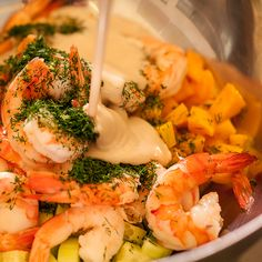 Easy Shrimp Salad with Mango and Cucumber Recipe
