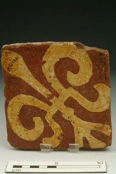 Floor tile, 14th century | Museum of London