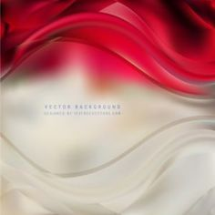 Abstract Red Beige Wave Background #freevectors