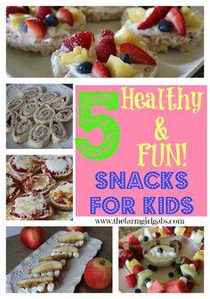 5 Healthy & Fun Snacks for Kids from www.thefarmgirlga....