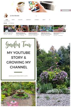 My garden tour YouTube story - Jo-Ann Blondin Succulent Arrangements, Succulents, High Tea Wedding, Garden Urns, Trees And Shrubs, Youtube Story, Peonies, Things To Come, Bloom