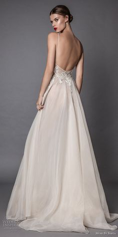 muse berta fall 2017 bridal spagetti strap deep sweetheart neckline heavily embroidered bodice tulle skirt romantic sexy blush flowy a line wedding dress open low back sweep train (amata) bv -- Muse by Berta Fall 2017 Wedding Dresses Open Back Wedding Dress, Wedding Dresses With Straps, Fall Wedding Dresses, Bridal Dresses, Wedding Gowns, Spagetti Strap Wedding Dress, Party Dresses, Lace Wedding, Muse By Berta