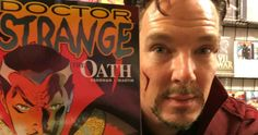 Benedict Cumberbatch Crashes a Comic Book Store Dressed as 'Doctor Strange' -- A local New York City comic book store got quite a surprise as the real 'Doctor Strange' showed up to snap a few Selfies. -- http://movieweb.com/doctor-strange-comic-book-store-benedict-cumberbatch/