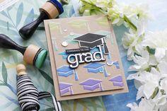 Amore Laurafadora: Congrats to the Grad Graduation Cards, Graduation Invitations, Graduation Ideas, Simon Says Stamp Blog, Card Tutorials, Video Tutorials, Stencil Designs, Grad Parties, Clear Stamps
