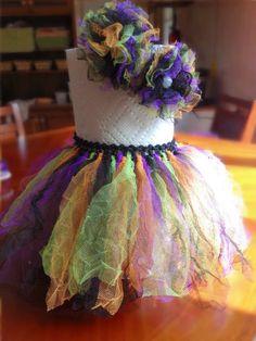 Fall / Halloween Infant Tutu Set. DIY...baby headband...tie knots