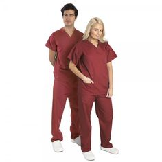 This basic Budget Scrubs unisex set or scrub suit is great for kitting out your department.These hospital scrubs are made from lightweight fabric consisting of a polyester and a cotton mix. This Budget Scrubs scrub suit is basic & does the job.