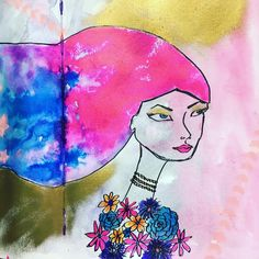 Some more art journal work inspired by @janedavenport using mostly Winsor and Newton inks.