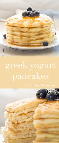 Packed with protein, these greek yogurt pancakes will keep you satisfied all morning. A healthier, guilt-free option for a delicious breakfast!