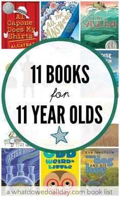 Variety of books for 11 year olds. These look like good books and lots of different kinds of choices.