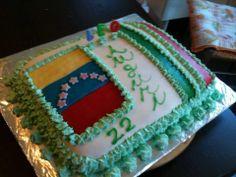 Torta bandiera Venezuela/Italia in pdz con crema al cioccolato