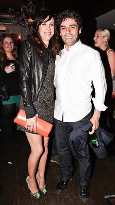 """Kristen Wiig and Oscar Isaac at the after-party for """"Revenge For Jolly!"""" at RdV Lounge hosted by Stolichnaya Vodka during the 2012 TriBeCa Film Festival in New York City, NY. (April 21, 2012) / Photo by Mike Coppola"""