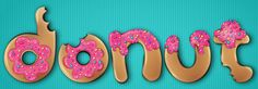 How to Create a Donut Font Style That Will Have Your Clients Drooling   Vectips