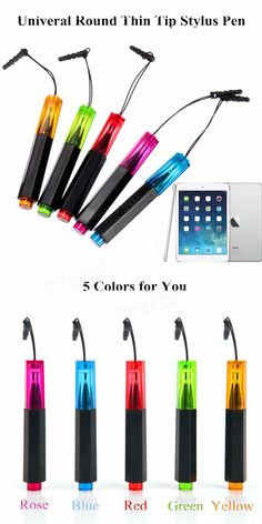 Only US$2.99 , buy best Universal Touch Screen Round Thin Tip Stylus Pen For iPhone iPad Tablet  sale online store at wholesale price.UK/USA direct.
