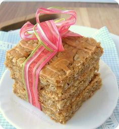 Oatmeal Butterscotch Bars (recipe from Mel's Kitchen Cafe / prepared by une Gamine dans a Cuisine)