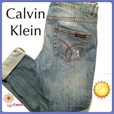 Need some Calvins for Casual Friday Calvin Klein jeans 5 pocket. These are very comfortable more relaxed through the hips. Size 8, but fit more like a 10. Regular length. In great condition. Calvin Klein Jeans