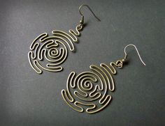 spiral labyrinth earrings