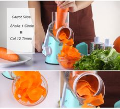 the best Vegetable Cutter Round Mandoline Slicer Grater For Carrot Potato Julienne Stainless Steel Blades