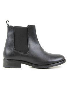 Vegan womens Chelsea boots in black by Wills London - http://wills-vegan-shoes.com/vegan-women-s-flat-chelsea-boots-black.html