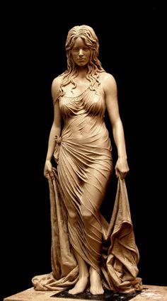 Benjamin Victor - Bathsheba, Clay for Bronze, 9 x 21 x 6 inches