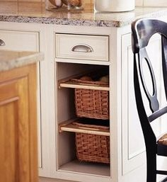 Storage for Small Kitchens - produce drawers