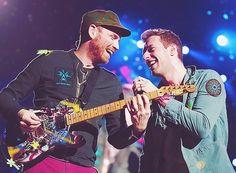 Chris Martin & Jonny Buckland