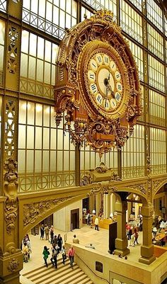 The fabulous clock at the Musée D'Orsay, in Paris. Gold...