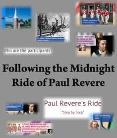 """Use these three activities to teach your students the """"real"""" story of what happened on Paul Revere's Midnight Ride!"""