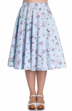 Hell Bunny Amelia Cat Print Skirt