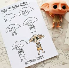 potter harry easy drawings simple cool painting doodles characters quotes dobby uploaded sketch